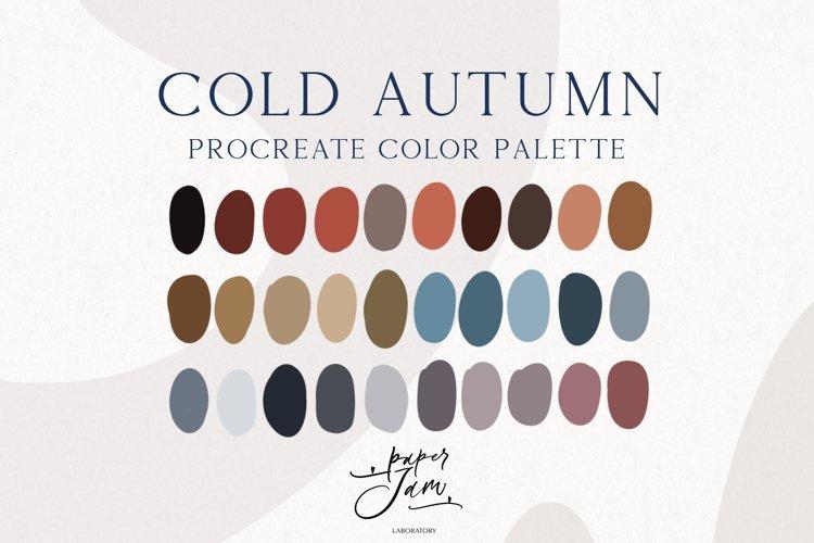Procreate Color Palette - Cold Autumn - Color Swatches