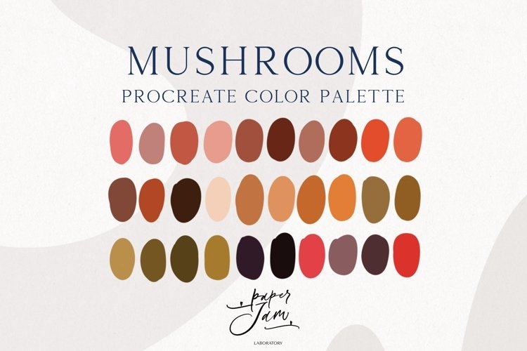 Procreate Color Palette - Mushrooms - Color Swatches