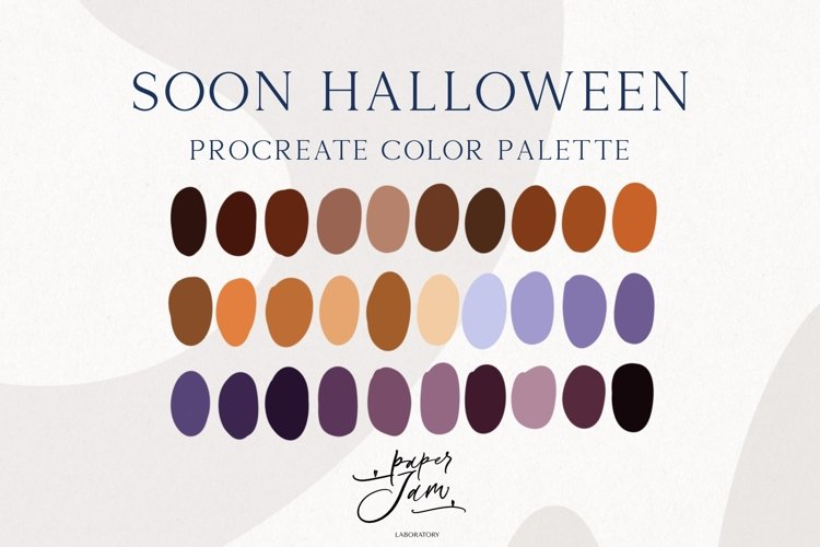 Procreate Color Palette - Soon Halloween - Color Swatches