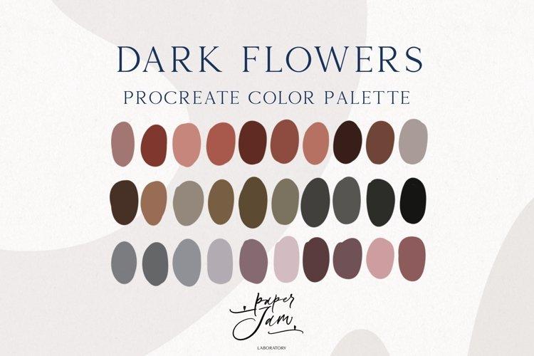 Procreate Color Palette - Dark flowers - Color Swatches