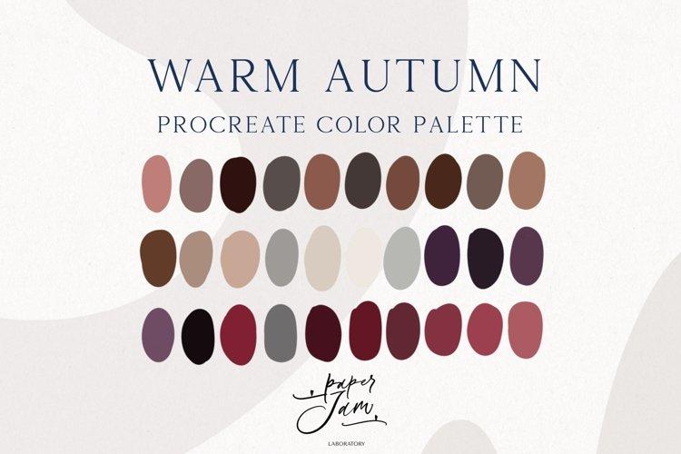 Procreate Color Palette - Warm Autumn - Color Swatches