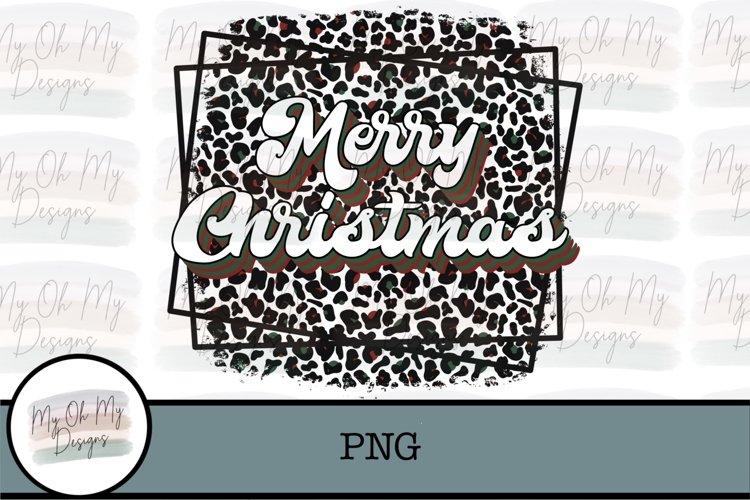 Merry Christmas, Leopard, Cheetah, Retro, Vintage