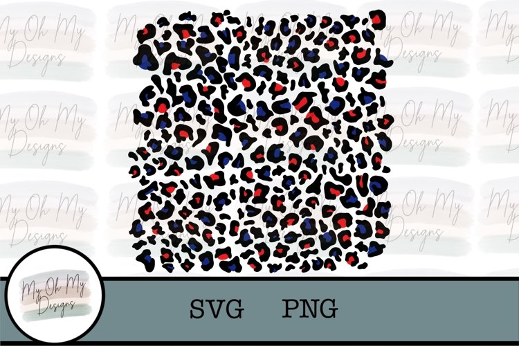 red white blue, Leopard, Cheetah, Layered SVG, Sublimation