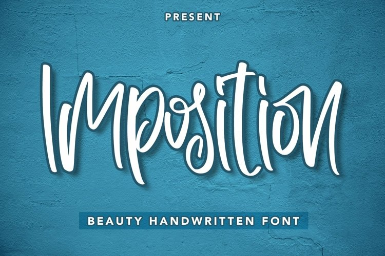 Web Font Imposition - Beauty Handwritten Font example image 1