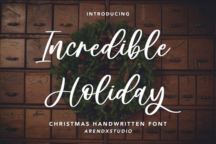 Incredible Holiday - Handwritten example image 1