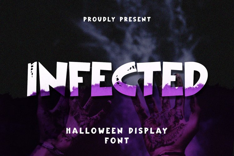 Infected - Halloween Display Font example image 1