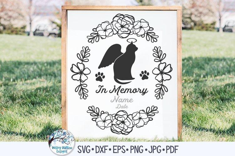 In Memory of Cat with Angel Wings SVG | Pet Memorial SVG