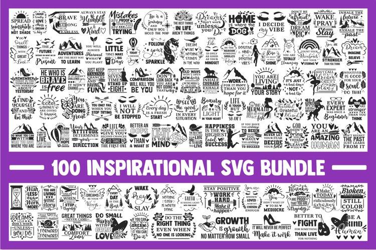 Inspirational quotes SVG Bundle, motivational svg, positive