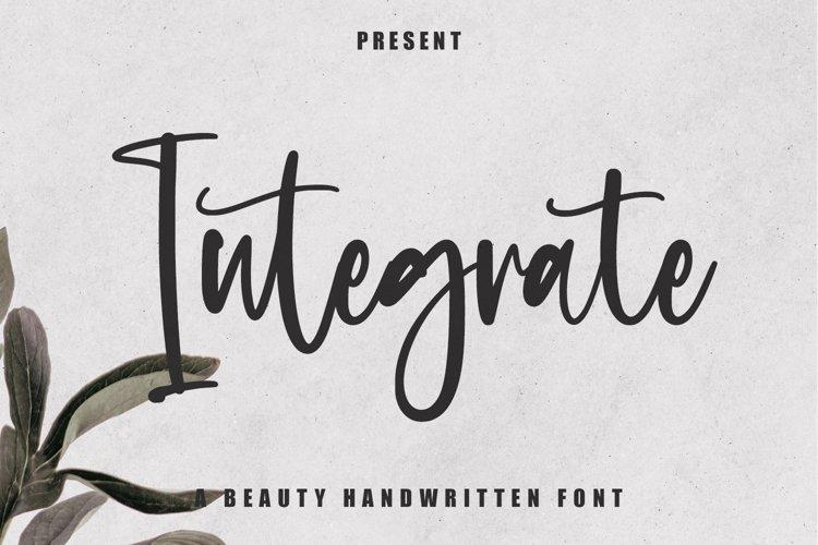 Integrate - Beauty Handwritten Font example image 1