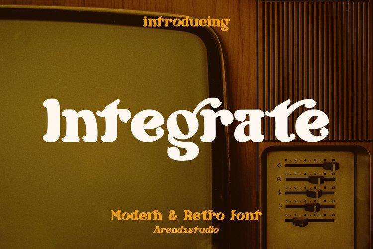 Integrate - Modern   Retro Font