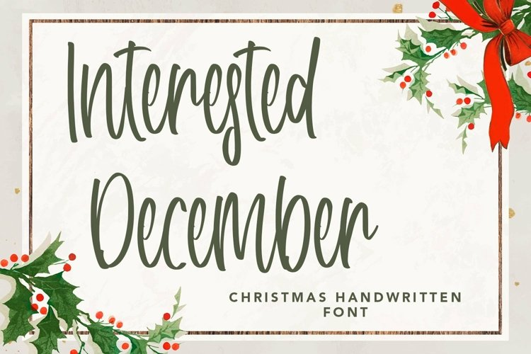 Web Font Interested December - Christmas Handwritten Font example image 1