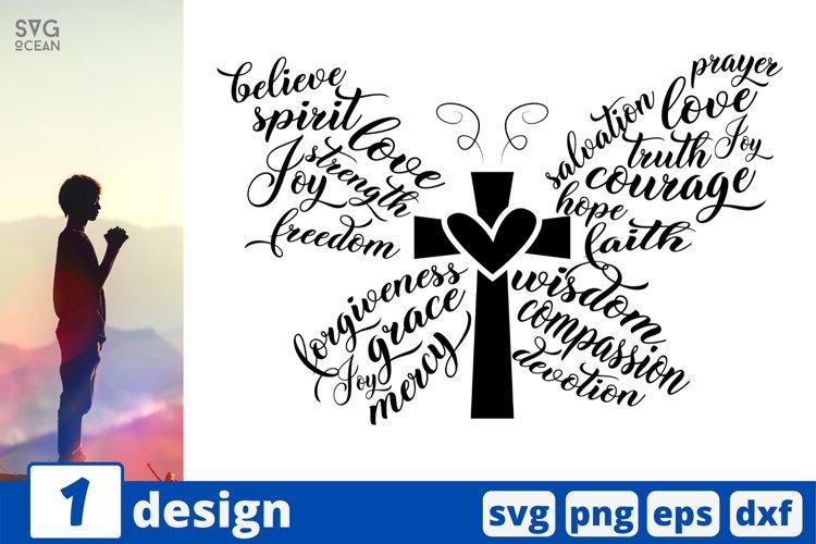 Faith Butterfly SVG CUT FILE | Jesus cricut | Faith svg example image 1