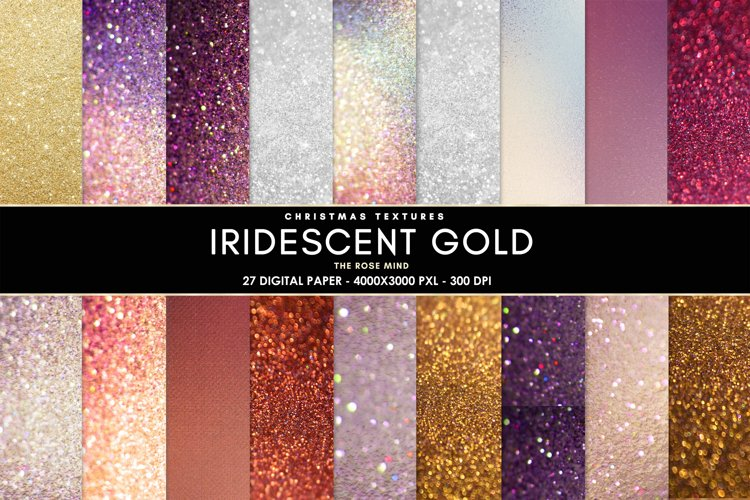 Iridescent gold christmas, Background