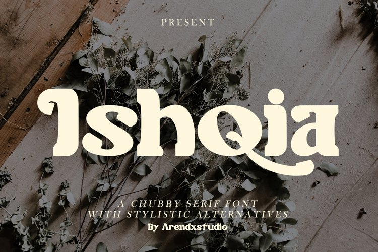 Ishqia - Chubby Serif Font example image 1