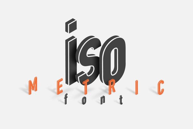 Isometric Font - Múltiliñgüâl Suppørt at an angle of 120 example image 1