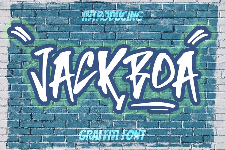JACKBOA - Graffiti Street Font example image 1