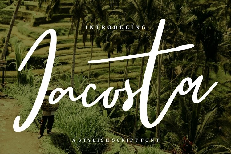 Web Font Jacosta - A Stylish Script Font