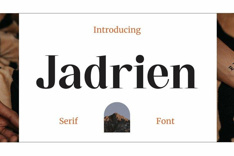 Web Font Jadrien example image 1