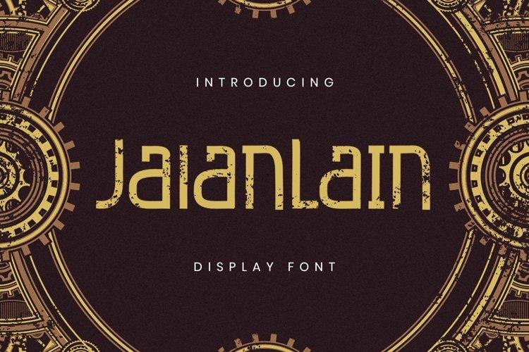 Web Font Jalanlain example image 1