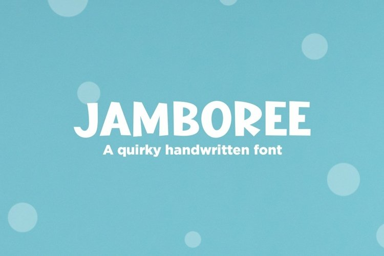 Web Font Jamboree - a quirky handwritten font example image 1