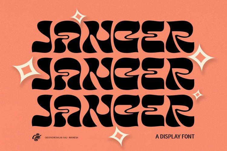Janger - Display font example image 1
