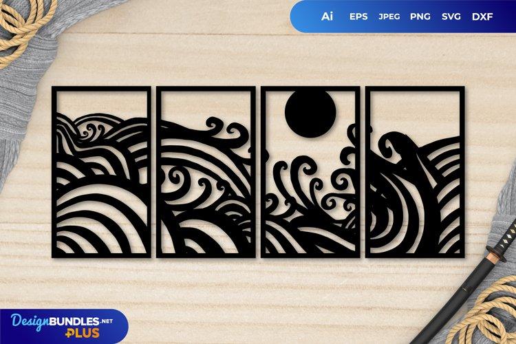 Japanese Style Ocean Paper Cut | Continuous Papercut