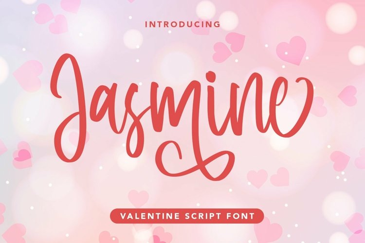 JWeb Font asmine - Valentine Script Font example image 1