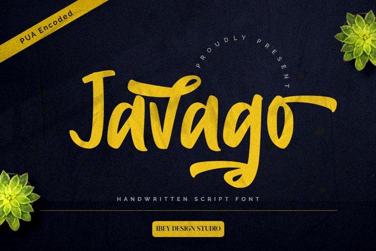Javago - Handwritten Script Font example image 1