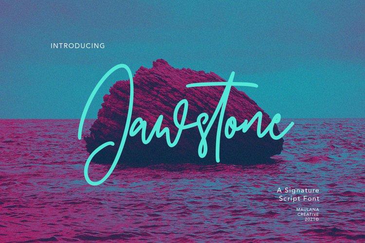 Jawstone Signature Font example image 1