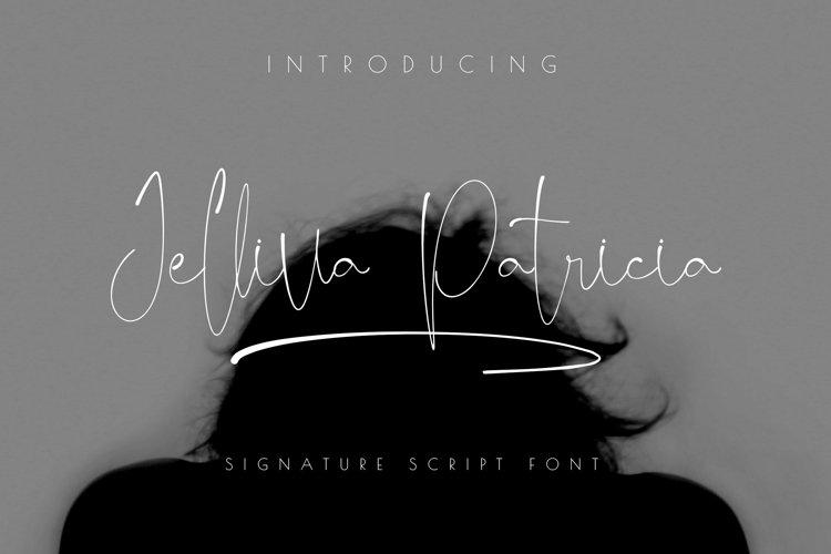 Jelliva Patricia - Signature Script Font example image 1
