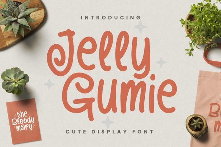 Web Font Jelly Gumie example image 1