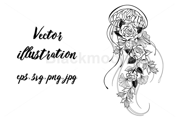 Jellyfish with Roses example image 1