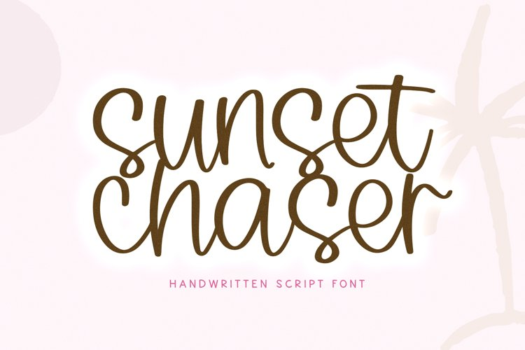 Sunset Chaser - A Handwritten Script Font