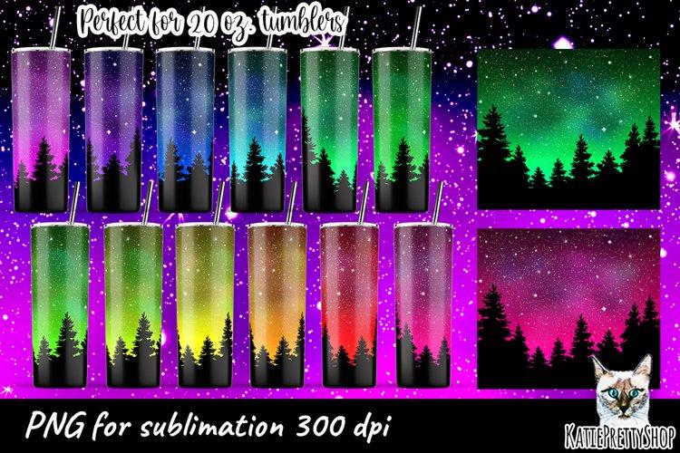 20 oz Tumbler sublimation design Bundle, night skyline