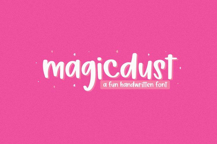 Magicdust - A Fun Handwritten Font example image 1