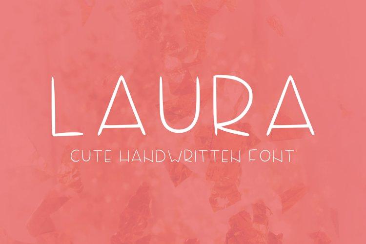 Laura handwritten font example image 1