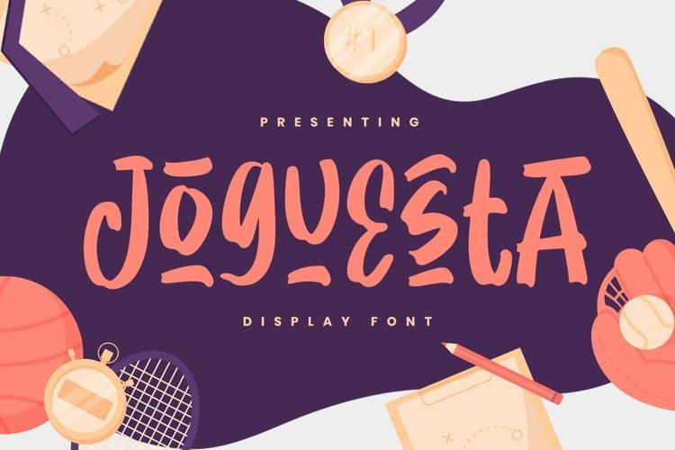 Web Font Joguesta example image 1