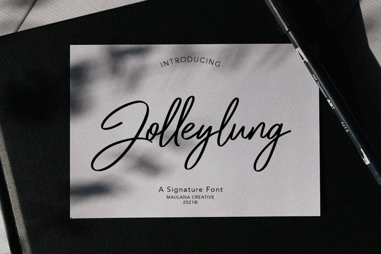 Jolleylung Signature Font example image 1