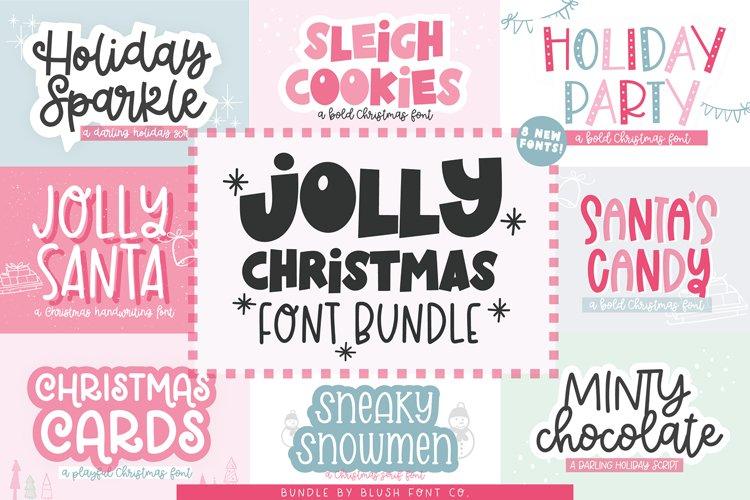 JOLLY CHRISTMAS FONT BUNDLE - Blush Font Co.