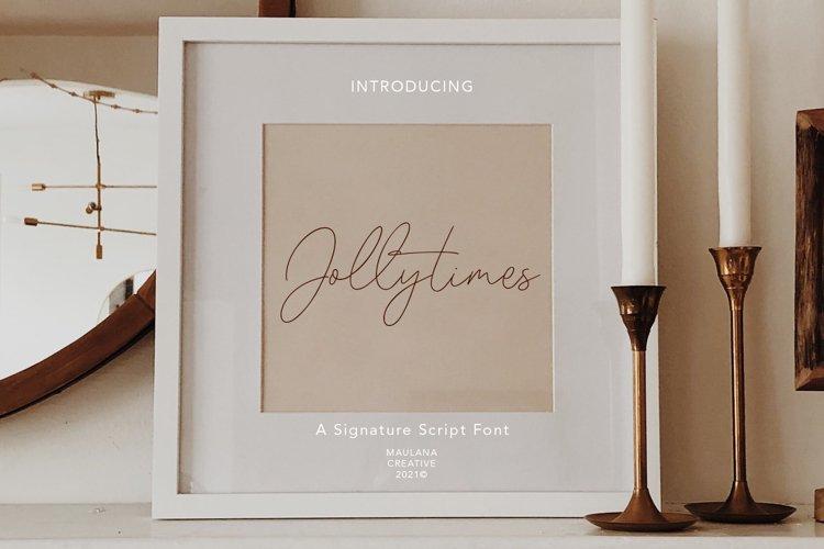 Jollytimes Signature Font example image 1