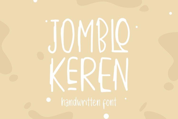 JOMBLO KEREN - Handwritten Font example image 1