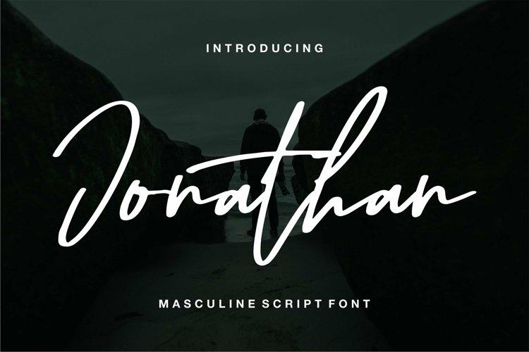 Web Font Jonathan - Masculine Script Font example image 1