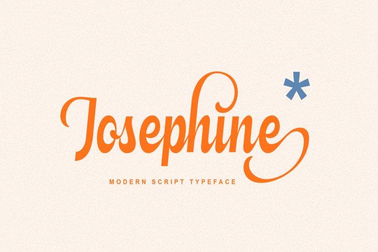 Josephine - Modern Script Typeface example image 1