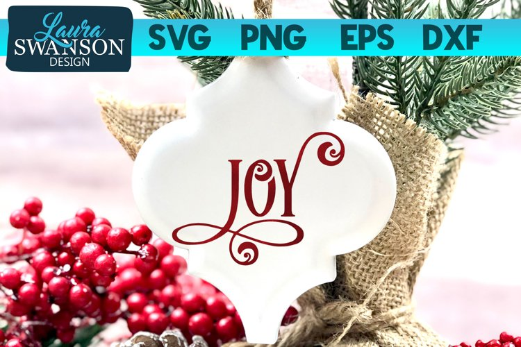 Joy SVG Cut File | Christmas SVG Cut File example image 1