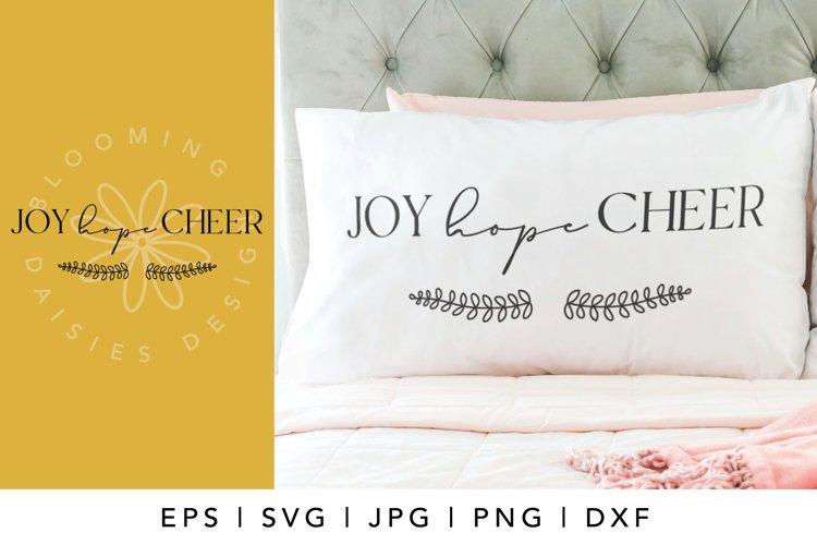 Joy hope cheer SVG, Christmas vacation SVG