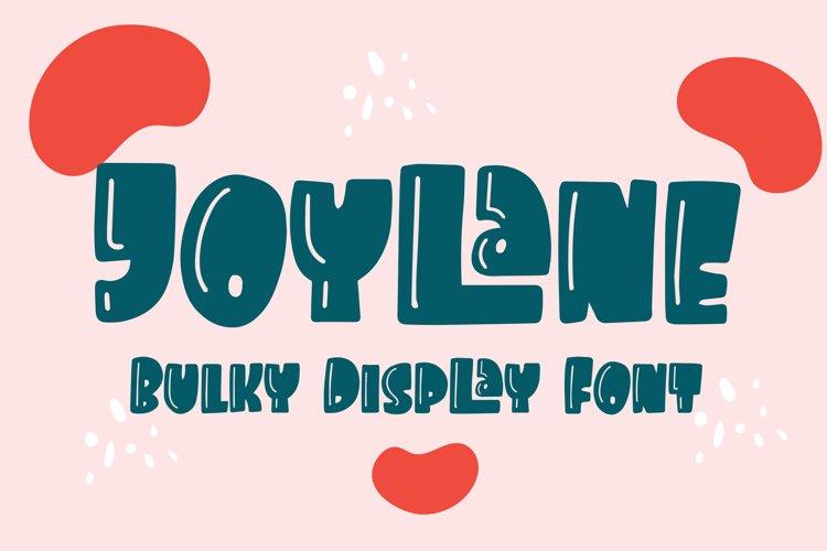 Joylane - Bulky Display Font