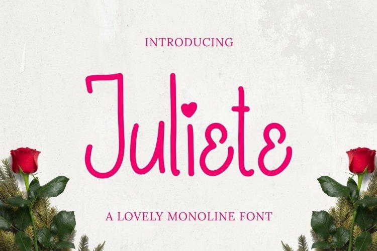 Web Font Juliete Font example image 1