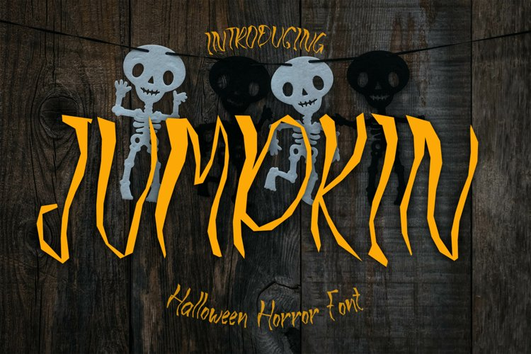 JUMPKIN - Halloween Horror Font example image 1
