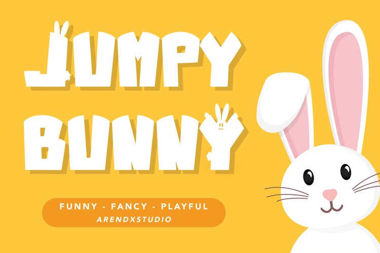 Jumpy Bunny - Funny Fancy Font example image 1