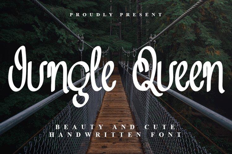 Jungle Queen - Beauty Handwritten Font example image 1